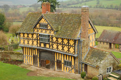 Elizabethan gatehouse. The elizabethan gatehouse at stokesay castle in shropshire Royalty Free Stock Photo