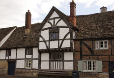 Elizabethan House. With whitewashed walls and oak beams Stock Images