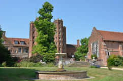 Elizabethan mansion with tower Royalty Free Stock Image