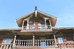 Elizarov`s house in Kizhi Museum-reserve. In Karelia Russia royalty free stock photo