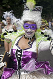 Elizibethean dancer from the School of Samba float Royalty Free Stock Photography