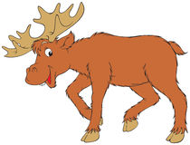 Elk. Vector clip-art / animal character for your design Royalty Free Stock Image