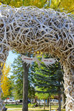 Elk Antler Arch, Jackson Hole Wyoming Royalty Free Stock Images