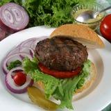 Elk burger. On a bun Stock Photos