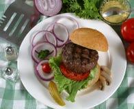 Elk burger. On a bun Royalty Free Stock Photography