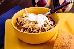 Elk Chili and Cornbread Royalty Free Stock Photography