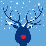 Elk of christmas card Royalty Free Stock Photography