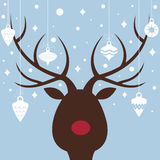 Elk of christmas card Royalty Free Stock Photos