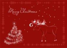 Elk Christmas postcard Royalty Free Stock Photography