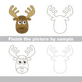 Elk. Drawing worksheet. Royalty Free Stock Photo