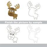 Elk. Drawing worksheet. Stock Photos