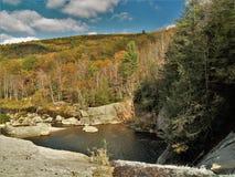 Elk Falls. Pool below Elk Falls near Elk Park, North Carolina in the Toecane Ranger District of the Pisgah National Forest royalty free stock photo