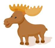 Elk flat style icon Stock Photo