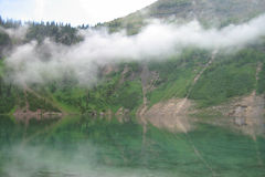 Elk Lake. Early morning at Elk Lake in the Great Bear Wilderness in Montana stock photo