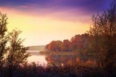 Elk Lake in autumn Stock Images
