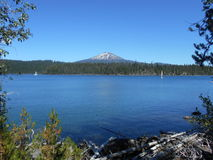 Elk Lake and Mount Bachelor - Central Oregon Royalty Free Stock Images