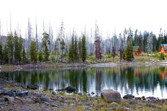 Elk Lake in October Stock Photography