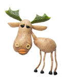Elk made of potato Royalty Free Stock Images