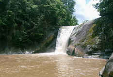 Elk River Falls. Is a beautiful 50' high waterfall near Elk Park, North Carolina in the Toecane Ranger District of the Pisgah National Forest.  On this day Stock Images