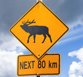 Elk Road sign Royalty Free Stock Image