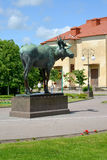 An elk sculpture in the square, Russia Stock Photography
