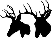 Elk Trophy. Elk Trophy silhouette on white background Stock Photo