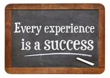 Elke ervaring is een succes stock afbeelding