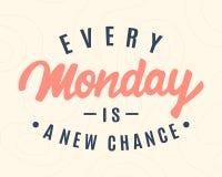 Elke Maandag is een Nieuwe Kans vector illustratie