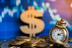 Elke minuut is altijd met een waarde van, is de tijd geld Beeldgebruik voor busin Royalty-vrije Stock Afbeelding
