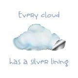 Elke wolk Royalty-vrije Stock Afbeeldingen