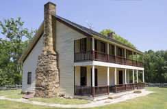 Elkhorn Taven Battle of Pea Ridge Arkansas. Elkhorn Tavern is a two-story, wood-frame structure that served as a physical center for the American Civil War Royalty Free Stock Photography