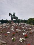 Elkins, statue équestre de confédéré de WV photos libres de droits