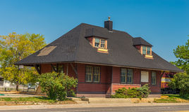 1901 Elko British Columbia station. Relocated to Cranbrook BC in 1987 Stock Images