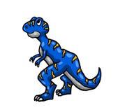 Elkraft blå T Rex vektor illustrationer