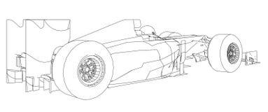 Elkraft driven gaffeltruck Begreppsbiltransport Vektor som skapas av 3d royaltyfri illustrationer