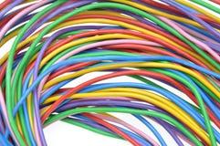 Elkraft färgade trådar Royaltyfri Bild