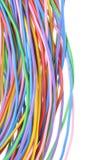 Elkraft färgade trådar Arkivbilder
