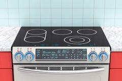 Elkraft glidbana-i konvektionområde i kökinre rende 3D royaltyfri illustrationer