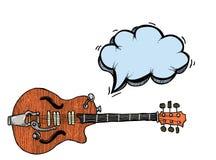 Elkraft guitar-100 royaltyfri illustrationer