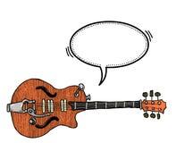 Elkraft guitar-100 stock illustrationer