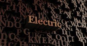 Elkraft - trä3D framförda bokstäver/meddelande stock illustrationer