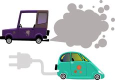 Elkraft vs gas royaltyfri illustrationer