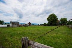 Elkton,在Shenandoah国民附近的弗吉尼亚风景风景  免版税库存图片