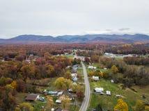 Elkton, Shenandoah的v弗吉尼亚小镇的天线  库存图片