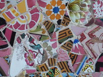 Ell ¼ πάρκων Gà μοναδικά κεραμίδια της Βαρκελώνης Gaudà ` s Στοκ Φωτογραφία