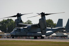 Ell Boeing V-22 Osprey at RAF Tattoo Fairford Royalty Free Stock Images