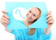 ¿Ella ama no ama? Imagen de archivo libre de regalías