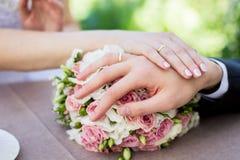 Ella dijo sí historia de la boda Imágenes de archivo libres de regalías