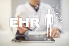 ELLA, EMR, historial médico electrónico concepto médico y de la tecnología Foto de archivo