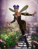 Ella en el jardín Imagenes de archivo